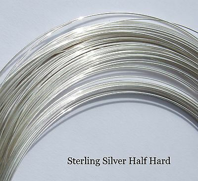 Sterling Silver Half Hard Round Wire 0.4,0.5,0.6,0.7,0.8,0.9 and 1mm Silversmith