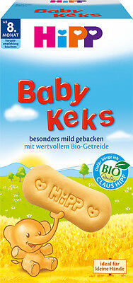 HiPP ORGANIC Baby Keks- Buttery Biscuits for babies-TEETHING -from 8th month