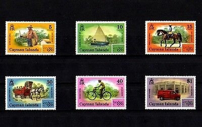 Cayman Is - 1980 - Cat Boat - Mailman - Truck - Bicycle ++ London 80 - Mint Set!