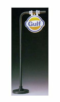 "Gas Station sign ""Gulf"" Shape Station Lamp Light G Scale Model power 983"