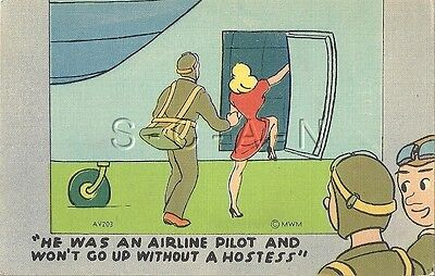 WWII Original Linen Army PC- Paratrooper- Parachute Troops- Stewardess- Comic