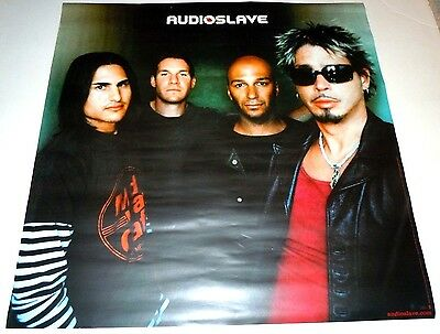 AUDIOSLAVE~Original Promo Poster~24x24~Excellent~2002~Rage Against The Machine