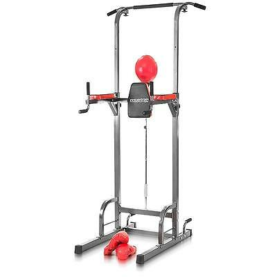 Exercise Power Tower Knee Raise Station Chin Dip Abs Pull Push Up Gym Fitness