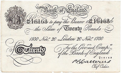 Great Britain, England, 20 Pounds 1930, Operation Bernhard, F/VF