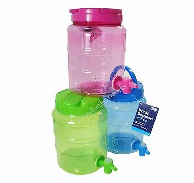 2 Liter Plastic Drinks Cocktail Water Mini Cooler Juice Dispenser Container with