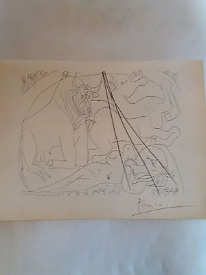 Pablo Picasso Vollard Suite Lithograph1956 hand signed original with CAO