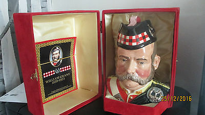 Grants 25 Year Old very rare,scotch whiskey in a Royal Doulton character jug