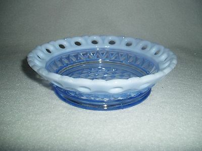 Imperial Laced Edge Katy Blue Opalescent Cereal Bowl #2 Free U.S. Shipping