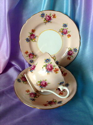 ♡  AYNSLEY TRIO H633/3 PINK TEA CUP SAUCER SIDE PLATE more instore