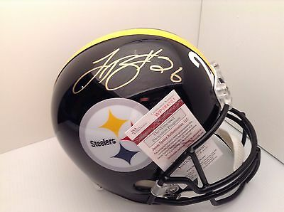 Pittsburgh Steelers Autographed Le'Veon Bell Black Full Sized Helmet JSA