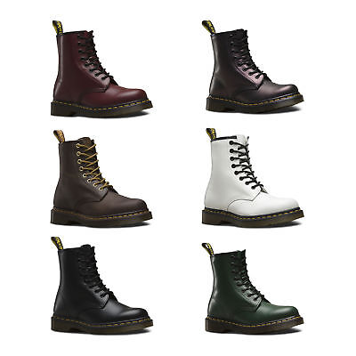 Dr Martens 1460 Airwair Women Leather 8 Eye Smooth Ankle Boots All Colors Sizes