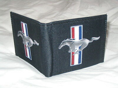 Canvas Ford Mustang tribar logo American style bi-fold wallet - great gift!