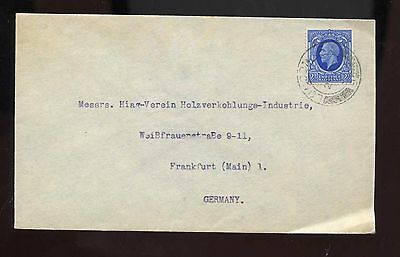 GB KGV 1930s cover from London to Frankfurt, Germany