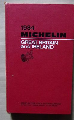 guide MICHELIN rouge GREAT BRITAIN AND IRELAND 1984
