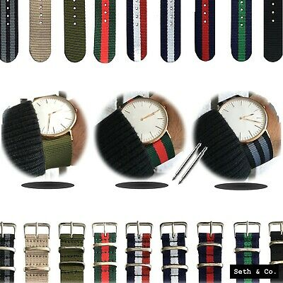 NATO Nylon ® Fabric Watch Strap Striped Army Swiss Military Dapper Wrist Band