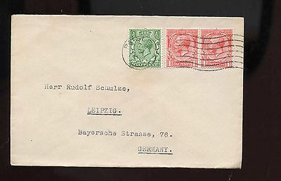 GB KGV 1924 cover from Paisley to Leipzig, Germany