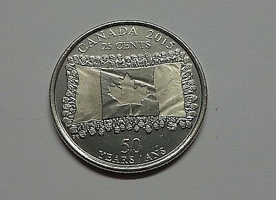 2015 Canada - 25 cents -  50th Anniversary of Canadian Flag