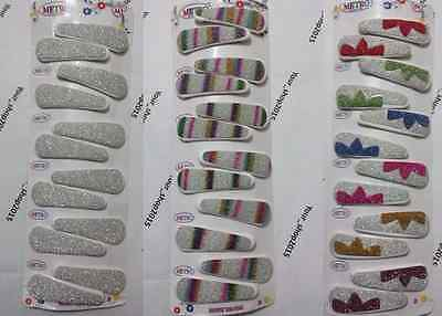Hair snap clips bendies sleepies slides 4.5cm sleepy grips 6,12 or 30 pack LOT