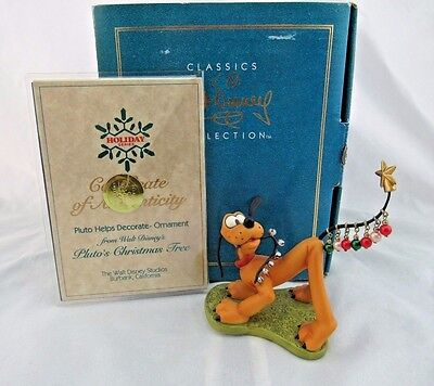 """WDCC """"Pluto Helps Decorate"""" Ornament from Pluto's Christmas Tree in box with COA"""