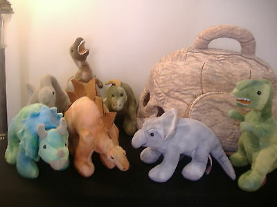 FAO Schwarz Plush Cave and 7 Dinosaurs *retired