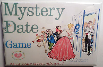 "Mystery Date Board Game Box 2""x3"" MAGNET Refrigerator Locker Retro"