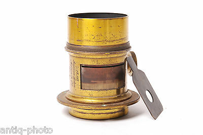 Vintage brass lens Marion & CO, American system #12,193