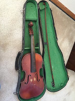 Full Size 4/4 Antique German Violin Steinmann Fecit Anno with Case And Bow