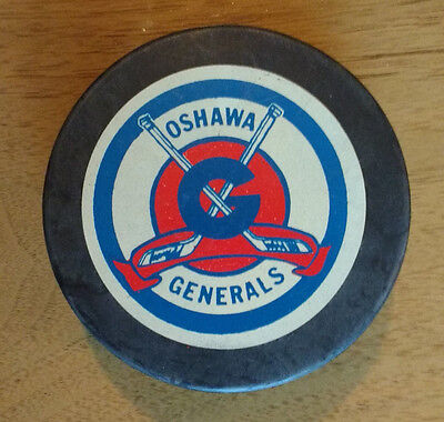 Early 1980s Oshawa Generals Game Puck OHA / OHL Vintage Rare