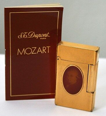"S.t.dupont Feuerzeug ""mozart Medallion"" Linie 2 Limited Edition 1991 Lighter"