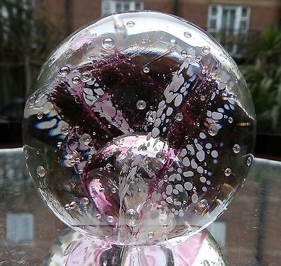 Vintage Art Glass : Large Selkirk Windswept Paperweight