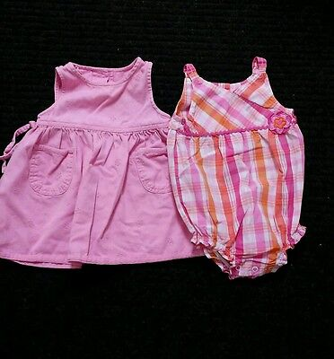Baby Girl's Dress Jumper and Bodysuit Romper One Piece 18 months lot 2