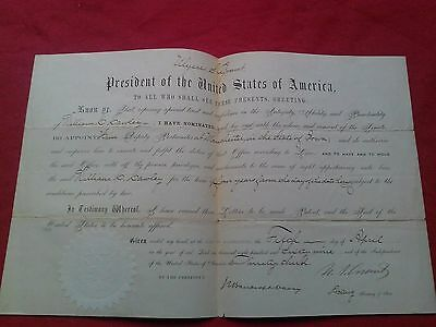 RARE 1869 Presidential Appointment Signed Document Ulysses S. Grant