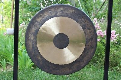 38'' Chau gong and wood mallet China classic copper instruments