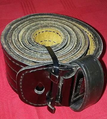 """Black Leather Police Duty Belt, 2 1/8"""" Wide Many Sizes to Choose From FREE Ship"""