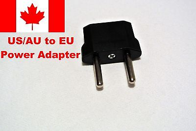 US/AU (Canada/Australia) to EU (Europe) Converter Power Plug Travel Adapter