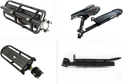 Extendable Bike Rear Rack Carrier Bicycle Quick Release Seatpost Pannier Riding
