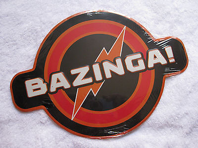 "THE BIG BANG THEORY ""Bazinga"" Embossed Metal Logo Sign  ""COOOL"""