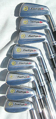 Rare Set of Vintage '60's First Flight Golden Arrow Blade Forged Irons  3-PW