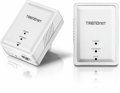 TRENDnet Powerline 500 AV Nano Adapter Kit, TPL-406E2K