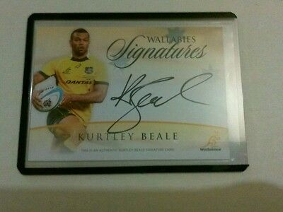 2016 Tap N Play Rugby Kurtley Beale Wallabies Autograph Ws-14 #148