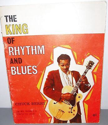 """Rare SONGBOOK Partitions """"CHUCK BERRY""""-THE KING of RHYTHM And BLUES -Jewel Music"""