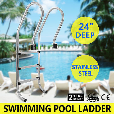 3-Step Swimming Pool Ladder Inground Handrails Easy Installation Widely Trusted