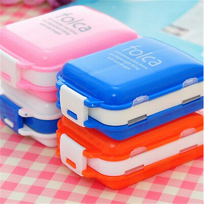Travel 8 Compartment Pill Box Medicine Tablet Holder Organizer Dispenser Case HC