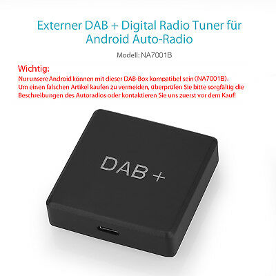 Neu Externe DAB+ Box(Y0251) nur für Pumpkin Digital Autoradio Android Navigation