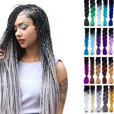 """24"""" Kanekalon Jumbo Braid Hair Extensions Best Quality For Party Costume"""