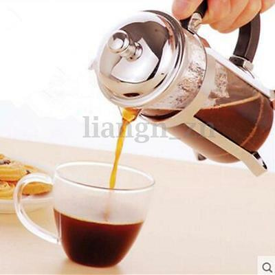 600ml Stainless Steel French Press Coffee Plunger Tea Maker Shatter Proof AU