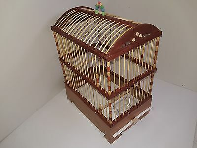 New WOODEN Bird cage. Wooden bamboo goldfinch,budgeriger,canary