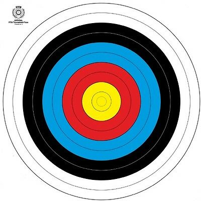 New Archery FITA Approved 60cm Target Faces - (10x pieces)