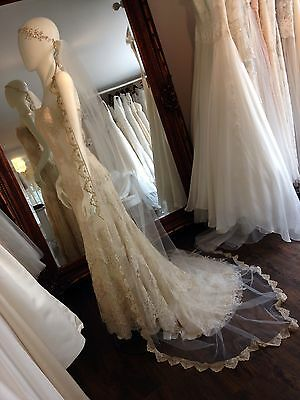 Russian Aristocracy Inspired Gold Trim Tulle Wedding Veil And Hair Vine ...