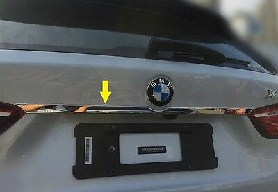 S Steel Rear Trunk Lid Cover Chrome Molding Strip Trim For BMW X1 F48 2016